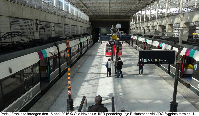 paris flygplats tåg